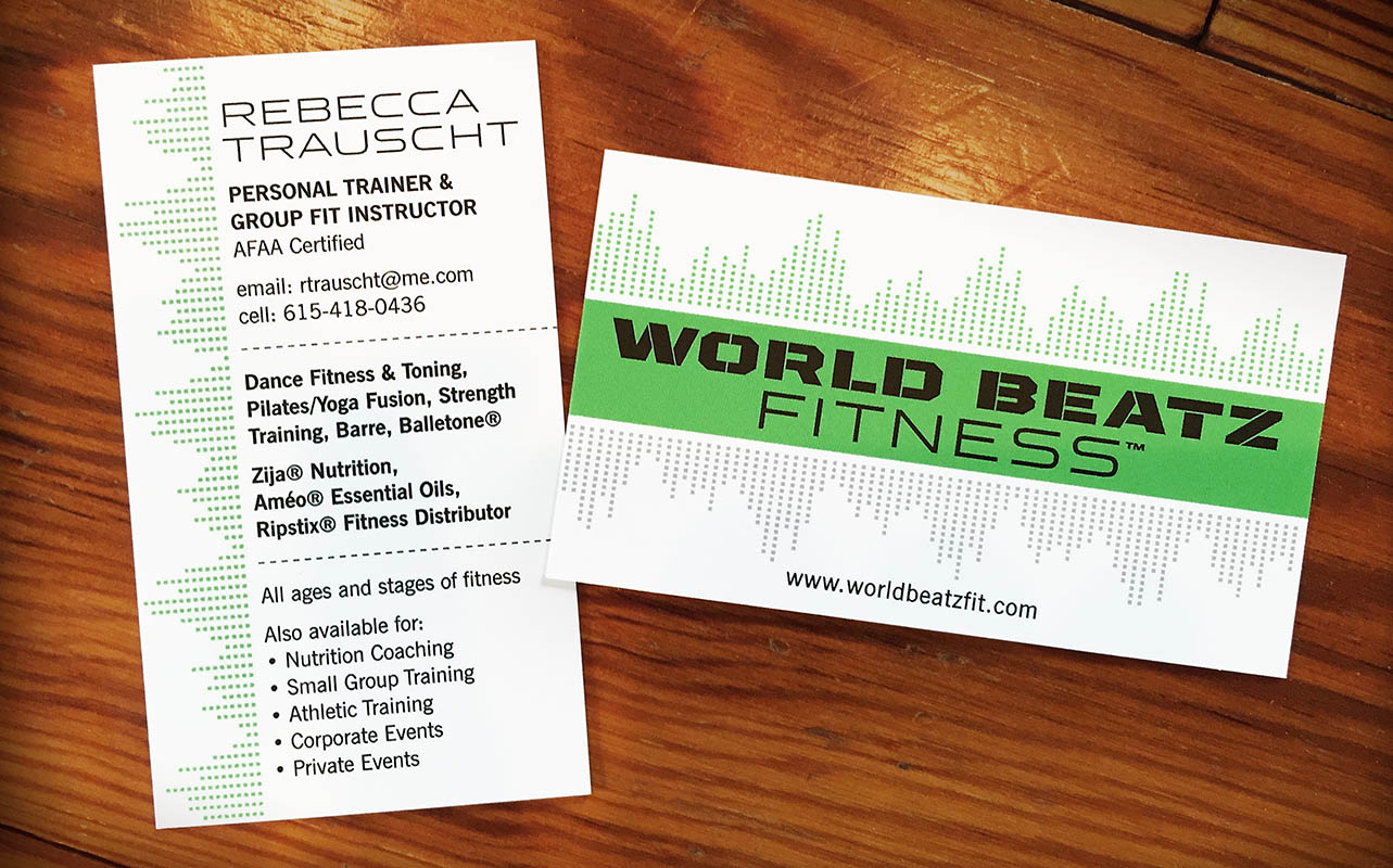 WorldBeatz Fitness Business Card