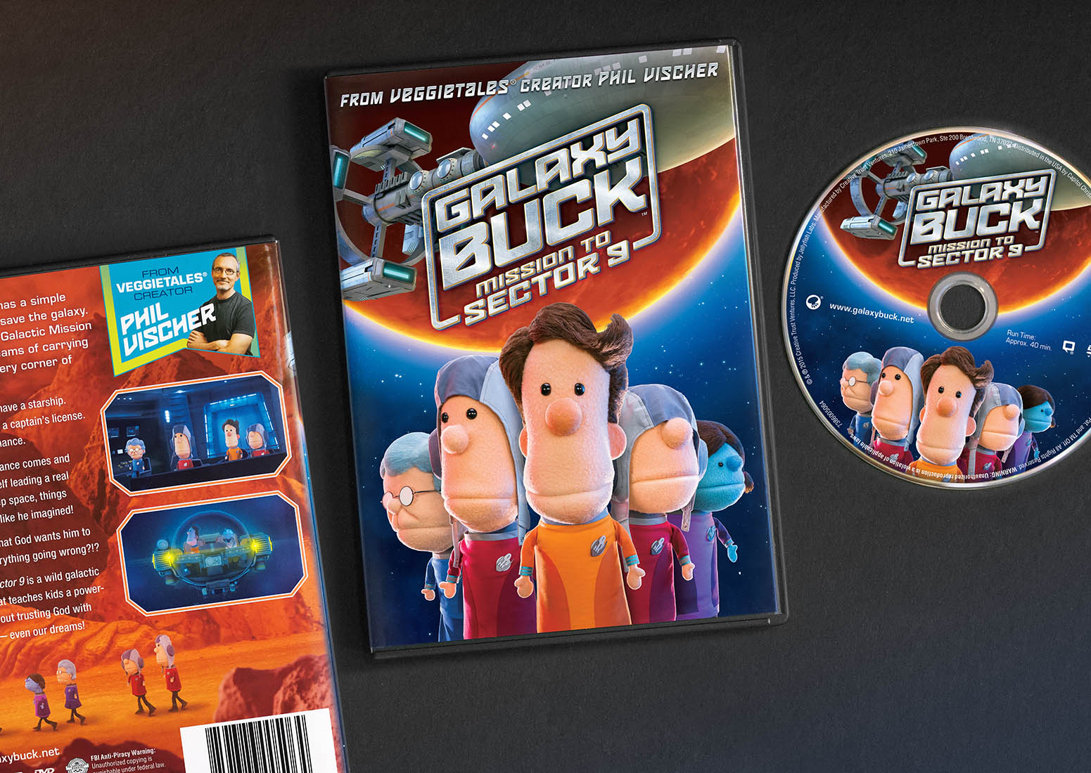 Galaxy Buck DVD Packaging